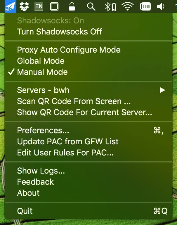 shadowsocksx_ng menu mac