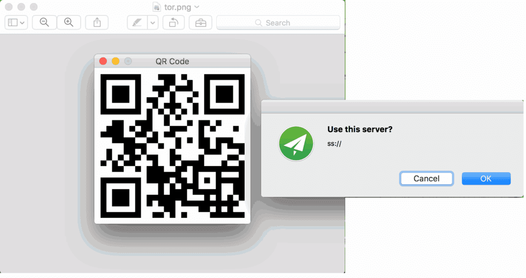 shadowsocks import qr mac