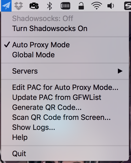 shadowsocks menu mac